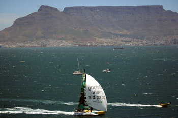 ABN AMRO One during the Cape Town in-port race