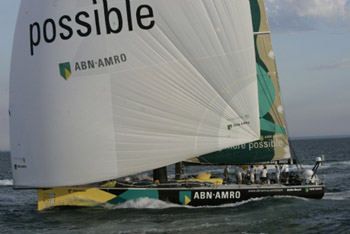 ABN AMRO One at the leg 2 finish in Melbourne