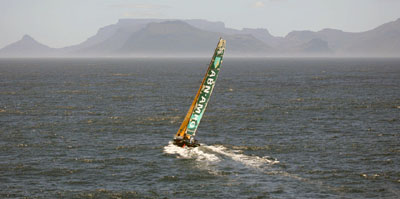 ABN AMRO One approaches Cape Town
