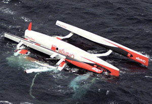 Orange Project capsized in Transat Jacques Vabre